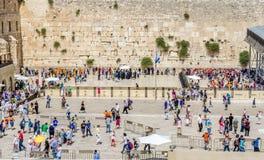 Westelijke muur in Jeruzalem, Israël Stock Afbeelding