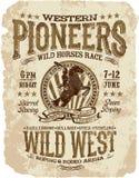 Westelijke pioniersrodeo royalty-vrije illustratie