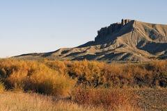 Westelijke Vlaktes en Butte Stock Afbeeldingen