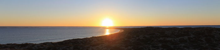 Westelijke Zonsondergang Stock Afbeelding