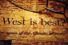 Westen ist am besten Stockbild