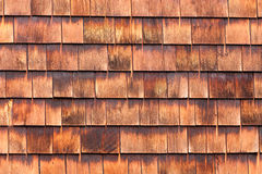 Westen red cedar shingles natural texture pattern. Westen red cedar shingles background texture pattern makes a natural organic wooden wall siding for Royalty Free Stock Photo