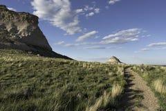 Westen und Ostpawnee Butte in nordöstlichem Colorado Stockfotografie