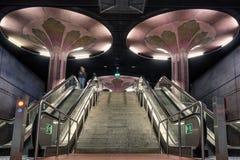 Westend U Bahn station in Frankfurt Germany Royalty Free Stock Images