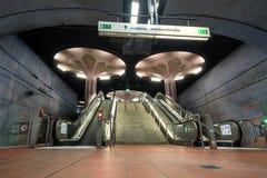 Westend U Bahn station in Frankfurt Germany Royalty Free Stock Photos