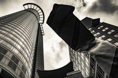 Westend wierza w Frankfurt magistrala, Niemcy - Am - obraz stock