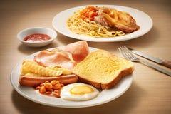 Wester frukostuppsättning royaltyfri foto