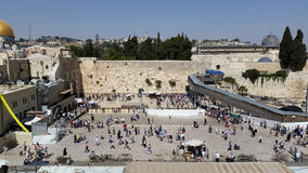 Wester Wall Plaza, Jerusalem. A view of the Western Wall, with part of the Temple Mount in Jerusalem. Western Wall plaza. jerusalem palestine architecture gold Stock Photography