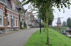 Westerbolwerk and mill Zeldenrust in Dokkum, Holland Royalty Free Stock Photography