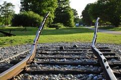 Westerbork Przelotowe Obozowe ziemie: Poręcze Obraz Stock