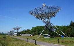 Westerbork radio telescopes stock photography
