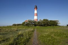 Westerhever (Germany) - Light house Stock Photos