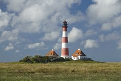 Westerhever (Germany) - Light house Stock Images