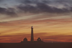 Westerhever (Germany) - Lighthouse in the evening Royalty Free Stock Photo