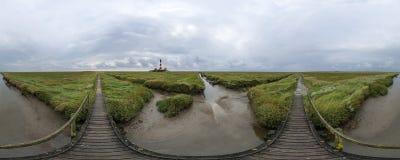 Westerhever latarnia morska Obraz Royalty Free