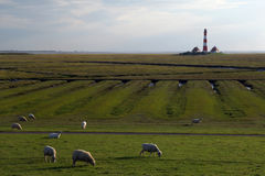 Westerhever lighthouse Stock Photography