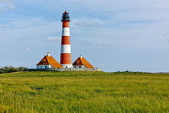 Westerhever lighthouse Royalty Free Stock Photos