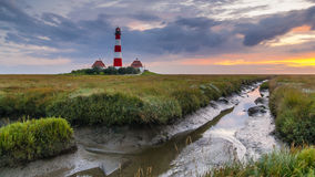 Westerhever Lighthouse Royalty Free Stock Photography