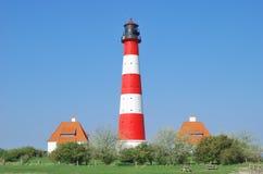 Westerhever, Mar del Norte, Alemania Imagenes de archivo
