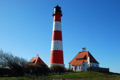 Westerhever Sand Lighthouse Royalty Free Stock Photos