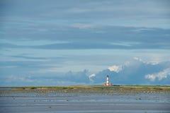 Westerheversand latarnia morska, Północny morze Zdjęcie Royalty Free