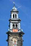 Westerkerk的钟楼 库存图片