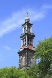 Westerkerk в Амстердаме в Нидерландах Стоковое Фото