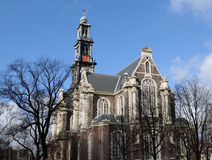 Westerkerk. (Western Church) in Amsterdam, the Netherlands Royalty Free Stock Images