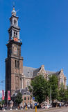 The Westerkerk against blue sky. Royalty Free Stock Photo