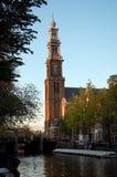 Westerkerk in Amsterdam stock foto's