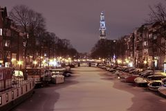 The Westerkerk in Amsterdam Netherlands Royalty Free Stock Photo