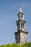 Westerkerk amsterdam westerchurch holland Royalty Free Stock Images
