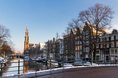 Westerkerk bridge Amsterdam Stock Images