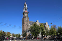 Westerkerk church in Amsterdam, Holland Royalty Free Stock Photography