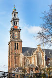 Westerkerk Church tower in Amsterdam, Holland Royalty Free Stock Photo