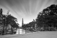 Westerkerk clouds BW Stock Photo