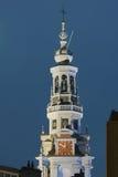 Westerkerk De mening van de nacht Royalty-vrije Stock Afbeelding