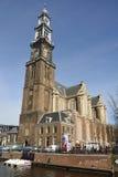 Westerkerk em Amsterdão Fotografia de Stock
