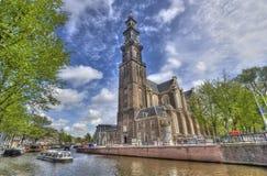 Westerkerk en Amsterdam Fotos de archivo libres de regalías