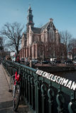 Westerkerk kościół w Amsterdam Zdjęcia Royalty Free