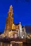 Westerkerk night Royalty Free Stock Images