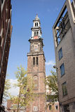Westerkerk Tower in Amsterdam Royalty Free Stock Photography