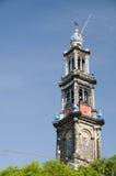 westerkerk westerchurch amsterdam Голландии Стоковые Изображения RF