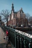 Westerkerkkerk in Amsterdam Royalty-vrije Stock Foto's