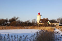 Westermarkelsdorf lighthouse at Fehmarn Royalty Free Stock Photo