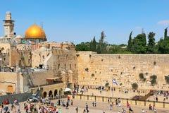 Western ściana i kopuła Rockowy meczet. Fotografia Royalty Free