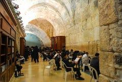 Western ściana, Jerozolima przy nocą (Wy ściana) Obrazy Stock