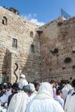 Western ściana wypełniająca z ludźmi świątynia Fotografia Stock