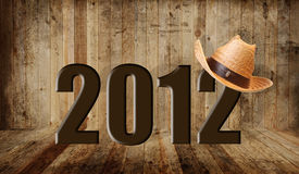 Western 2012. Western happy new year 2012 royalty free illustration