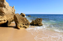 Western Algarve beach scenario, Portugal Royalty Free Stock Image
